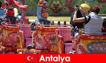 터키 안탈리아에서 좋은 가족 휴가