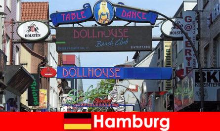 함부르크 Reeperbahn - 나이트 라이프 매춘부 및 섹스 관광에 대한 에스코트 서비스