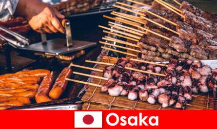 오사카는 일본의 요리이자 휴가 모험을 찾는 모든 사람에게 연락의 포인트입니다.