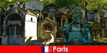 프랑스 파리의 특별한 매장지가있는 묘지 애호가를위한 유럽 여행