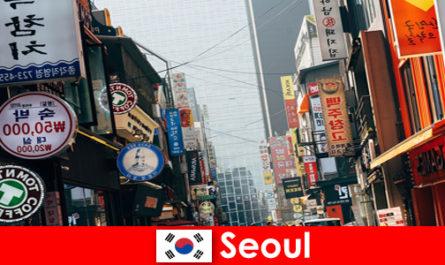 서울, 야간 관광객을 위한 조명과 광고의 흥미진진한 도시