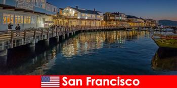 미국의 샌프란시스코, 해안 가 지구는 휴가의 비밀 좋아하는