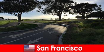 샌프란시스코 미국에서 자전거로 외국인을위한 탐험 투어