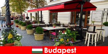 부다페스트 헝가리의 짧은 휴식 목적지는 고급 식사를위한 맛과 방문자를위한