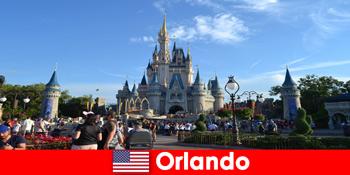 디즈니랜드 올랜도 미국 테마 파크에서 아이들과 함께 하는 가족 휴가