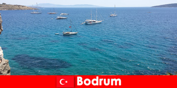 보드룸 터키의 아름다운 만에서 외국인을위한 고급 휴가