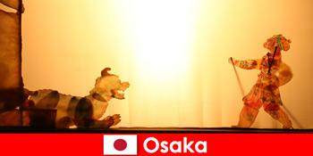 오사카 일본 코미디 엔터테인먼트 여행에 세계 각국에서 관광객을 걸립니다